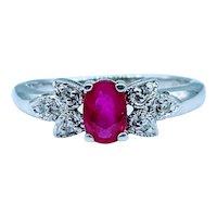 14kt Ruby & Diamond Filigree Ring