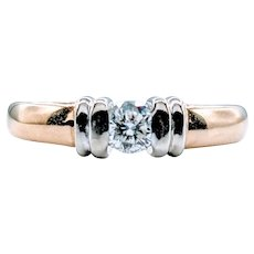 Two Toned 1/4ct Diamond Solitaire