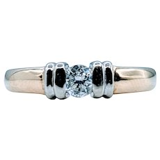 Beautiful .25ct Tension Set Diamond Ring