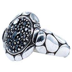 """John Hardy Sapphire """"Kali Lava"""" Ring - Retired Design"""