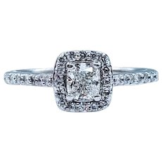Shimmering Cushion Cut Diamond Engagement Ring
