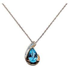 10kt Topaz & Diamond Necklace