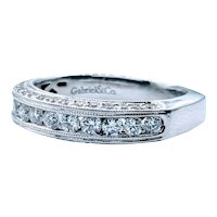 1.00ctw Channel Set Diamond Band with Side Profile Diamonds