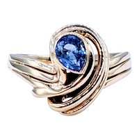 Retro Gold & Sapphire Cocktail Ring