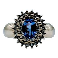 Lovely Tanzanite & Diamond Ring