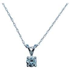 10kt Diamond Solitaire Necklace