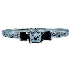 Dainty Sapphire & Diamond Ring