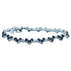 Elegant Sapphire & Diamond Bracelet