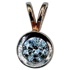 Bezel Set 1/2ct Diamond Pendant
