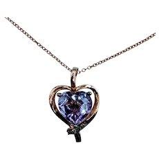 Beautiful LeVian Amethyst & Diamond Necklace