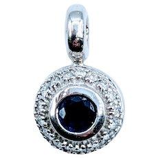Bezel Set 1/3ct Sapphire & Diamond Pendant