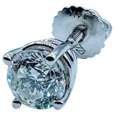Beautiful 14kw Single Diamond Stud Earring