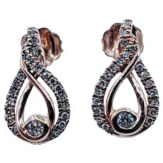 Stunning Rose Gold 1/4ct Diamond Earrings