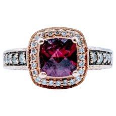 LeVian Garnet & Diamond Ring