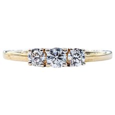 Classy Three Stone Diamond Ring