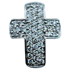 14kt Diamond Pave Cross Pendant