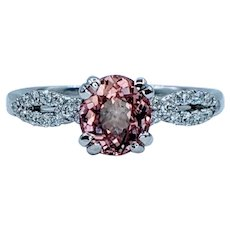 Stunning Pink Tourmaline & Diamond Ring