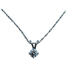 14kt .25ct Solitaire Necklace
