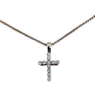 Classic Diamond Cross Necklace