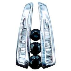 Channel Set Sapphire & Diamond Pendant