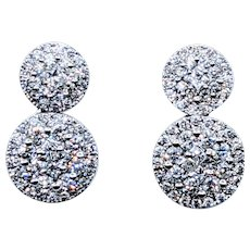 Brilliant Pave Diamond Dangle Earrings