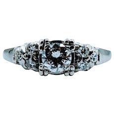 Gorgeous Midcentury 1/2ctw Diamond Ring