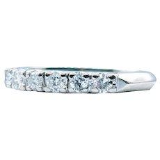 Vintage Six Stone Diamond Wedding Band