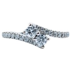 1/2ctw Double Diamond Anniversary Ring