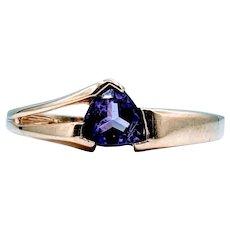 Gorgeous Trillion Amethyst Ring