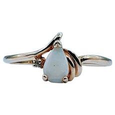 Cute Opal & Diamond Ring