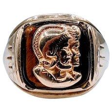 Midcentury Conquistador Gold Men's Ring