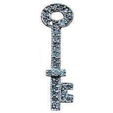 14kt Diamond Key Pendant