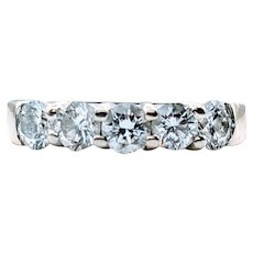 **Saturday Sale** 5 Stone Shared Prong 1.00ctw Diamond Band