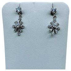 Unique 14kt .33ctw Diamond Earrings