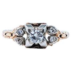 Wonderful Antique Diamond Engagement Ring