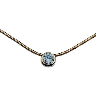 Timeless .33ct Solitaire Necklace