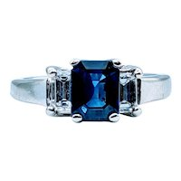 Stunning Natural Sapphire and Diamond Ring