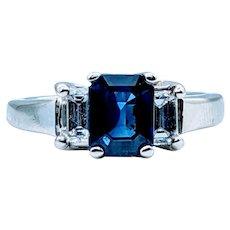 Stunning Natural Sapphire and Diamond Ring