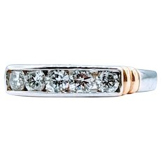 Brilliant .55ctw Channel Set Diamond Band