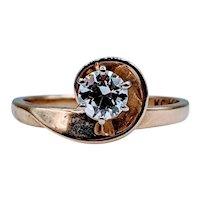 .33ct European Cut Solitaire Diamond Ring