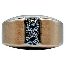 Handsome Gold & Diamond Men's Ring