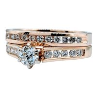 Gorgeous 1.00ctw Diamond Ring Set