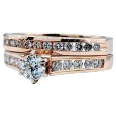 Gorgeous 1.00ctw Diamond Ring Set