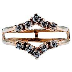 Beautiful .25ctw Round Diamond Ring Guard