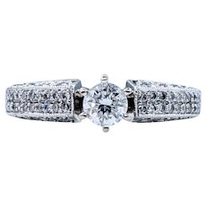 Beautifully Detailed Diamond Engagement Ring