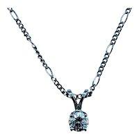 14kt .30ct Diamond Solitaire Necklace