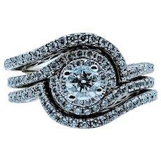 Gorgeous 1ctw 3-Piece Diamond Ring Set