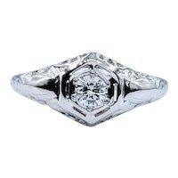 Vintage Diamond Engagement Ring .17ct Diamond