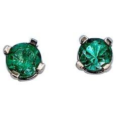 Gorgeous .25ctw Emerald Stud Earrings