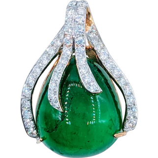 Exceptional 10+ Carat Columbian Emerald Pendant